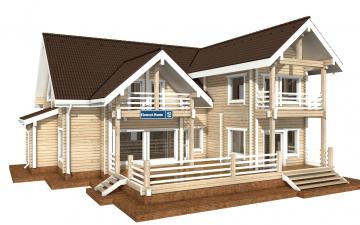 Фото #1: деревянный дом ПДБ-42 из клееного бруса купить за 17628000 (цена «Под ключ»)