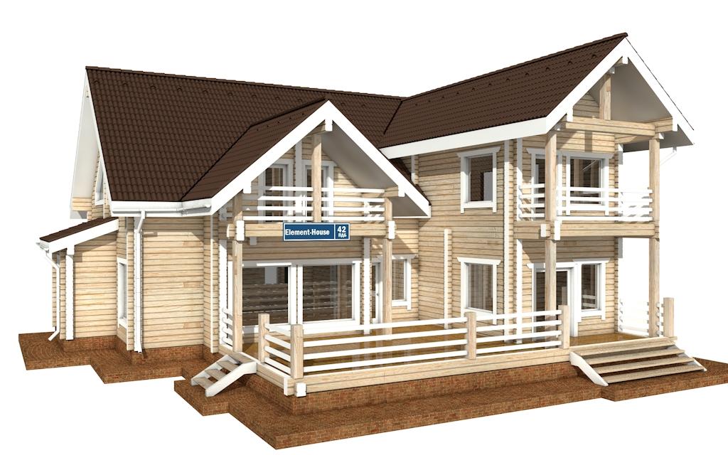 ПДБ-42 - деревянный дом из клееного бруса