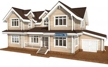 Фото #1: деревянный дом ПДБ-43 из клееного бруса купить за 14446000 (цена «Под ключ»)