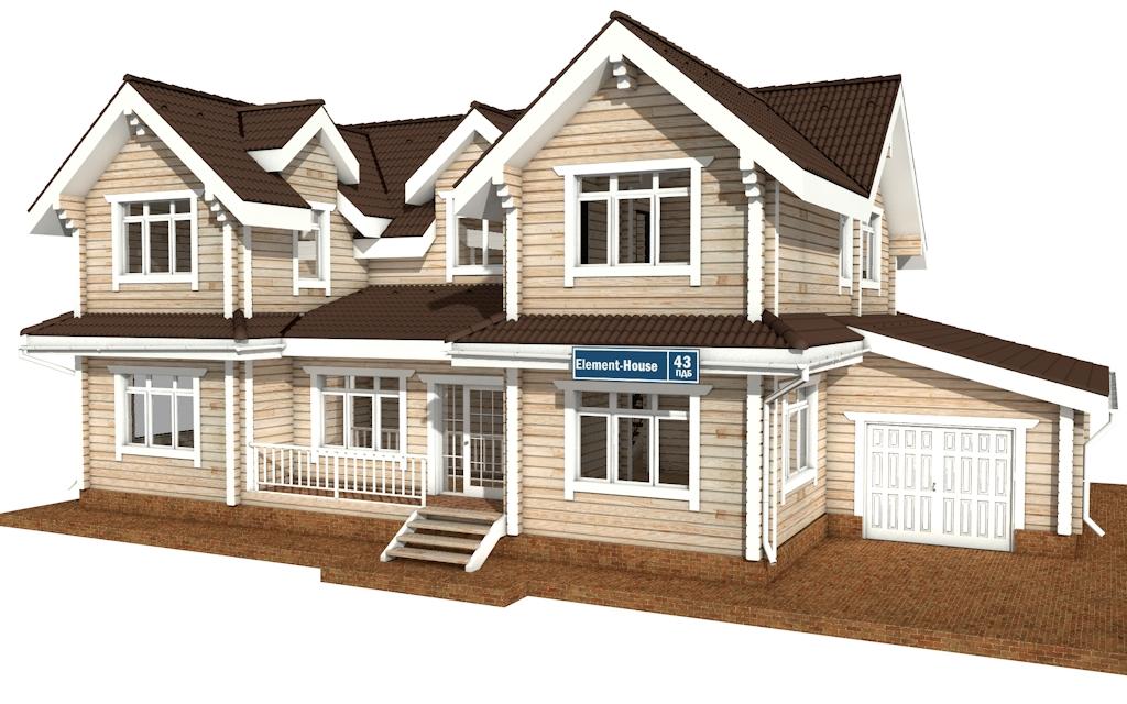 ПДБ-43 - деревянный дом из клееного бруса