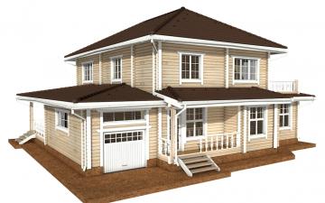 Фото #1: деревянный дом ПДБ-46 из клееного бруса купить за 17082000 (цена «Под ключ»)