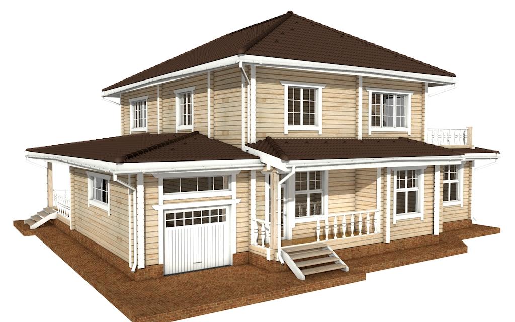 ПДБ-46 - деревянный дом из клееного бруса
