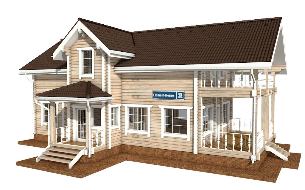 ПДБ-49 - деревянный дом из клееного бруса