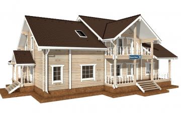 Фото #1: деревянный дом ПДБ-50 из клееного бруса купить за 14985000 (цена «Под ключ»)