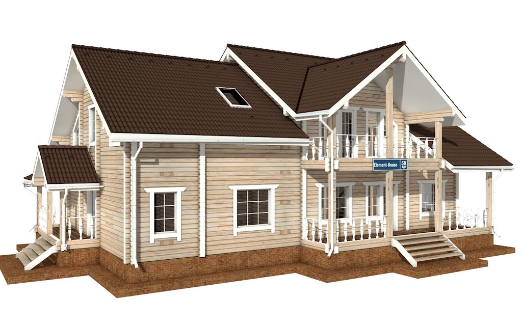 ПДБ-50 - деревянный дом из клееного бруса