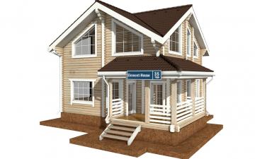 Фото #1: деревянный дом ПДБ-35 из клееного бруса купить за 8016000 (цена «Под ключ»)