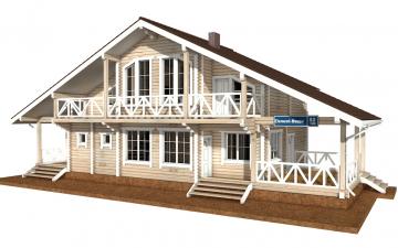 Фото #1: деревянный дом ПДБ-52 из клееного бруса купить за 12164000 (цена «Под ключ»)