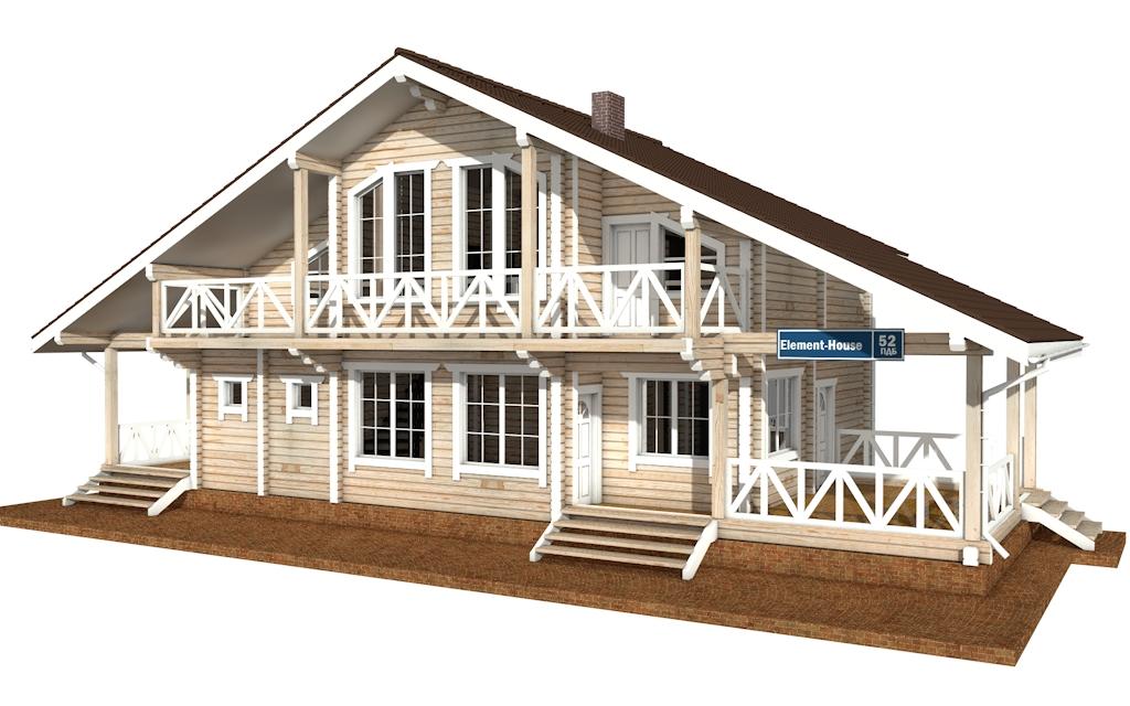 ПДБ-52 - деревянный дом из клееного бруса