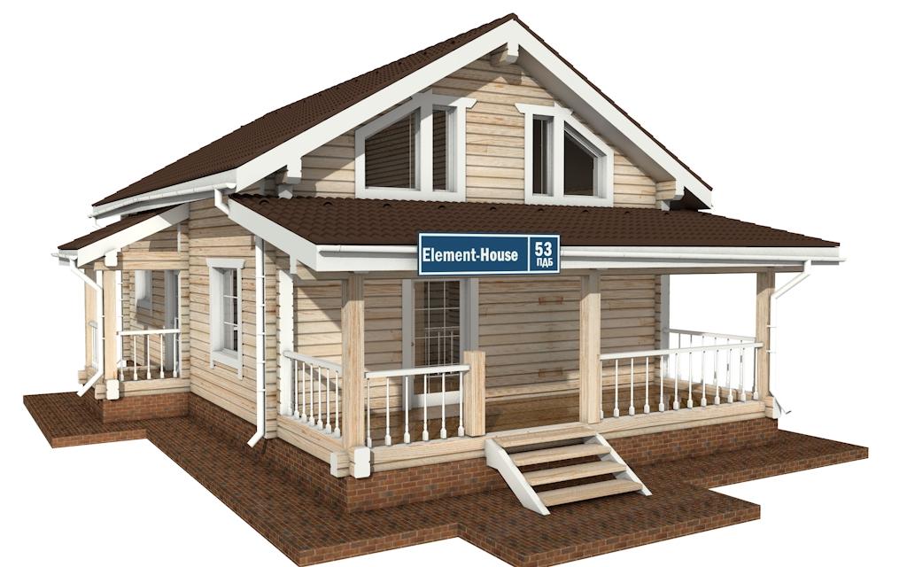 ПДБ-53 - деревянный дом из клееного бруса