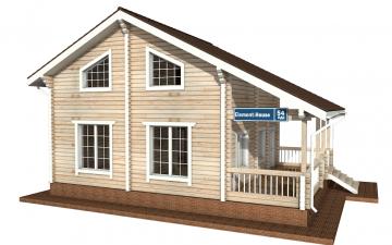 Фото #1: деревянный дом ПДБ-54 из клееного бруса купить за 6262000 (цена «Под ключ»)