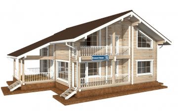 Фото #1: деревянный дом ПДБ-55 из клееного бруса купить за 11957000 (цена «Под ключ»)