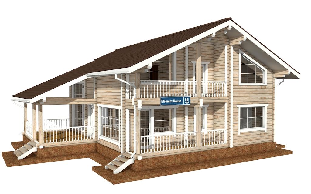 ПДБ-55 - деревянный дом из клееного бруса