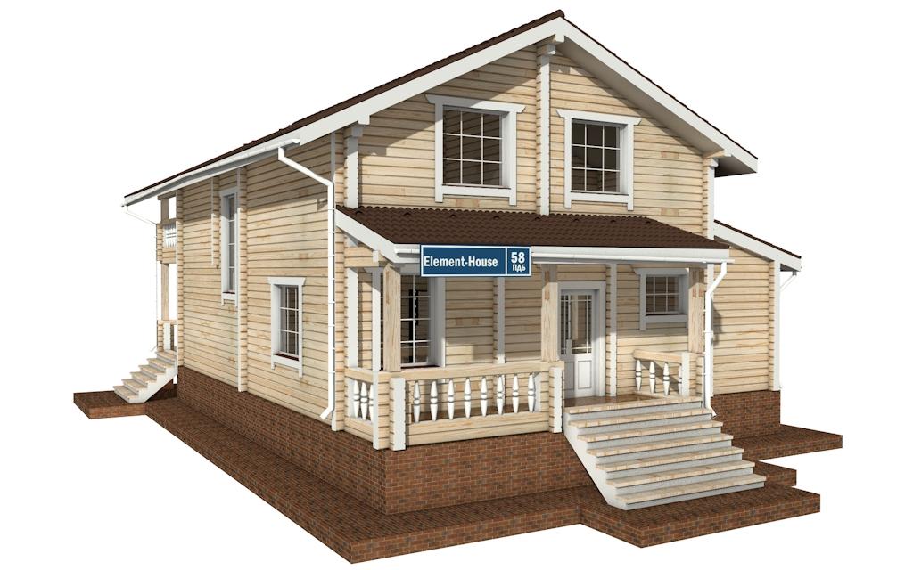 Фото #4: деревянный дом ПДБ-58 из клееного бруса купить за 10721000 (цена «Под ключ»)