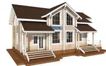 Фото #1: деревянный дом ПДБ-60 из клееного бруса купить за 10456000 (цена «Под ключ»)