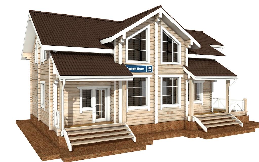 ПДБ-60 - деревянный дом из клееного бруса