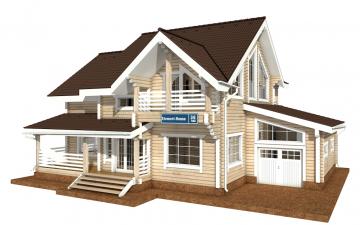 Фото #1: деревянный дом ПДБ-36 из клееного бруса купить за 14352000 (цена «Под ключ»)
