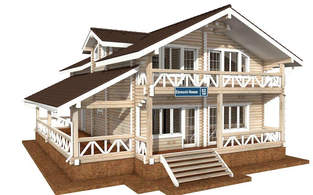 ПДБ-62 - деревянный дом из клееного бруса