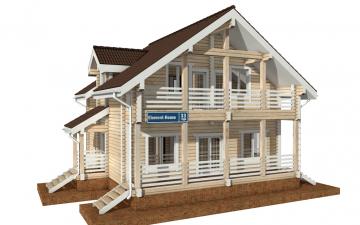 Фото #1: деревянный дом ПДБ-33 из клееного бруса купить за 9467000 (цена «Под ключ»)