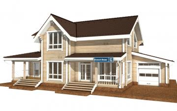 Фото #1: деревянный дом ПДБ-37 из клееного бруса купить за 14135000 (цена «Под ключ»)