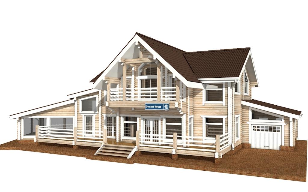 ПДБ-39 - деревянный дом из клееного бруса