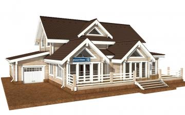 Фото #1: деревянный дом ПДБ-40 из клееного бруса купить за 13232000 (цена «Под ключ»)