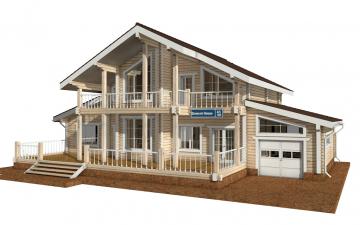 Фото #1: деревянный дом ПДБ-41 из клееного бруса купить за 12685000 (цена «Под ключ»)