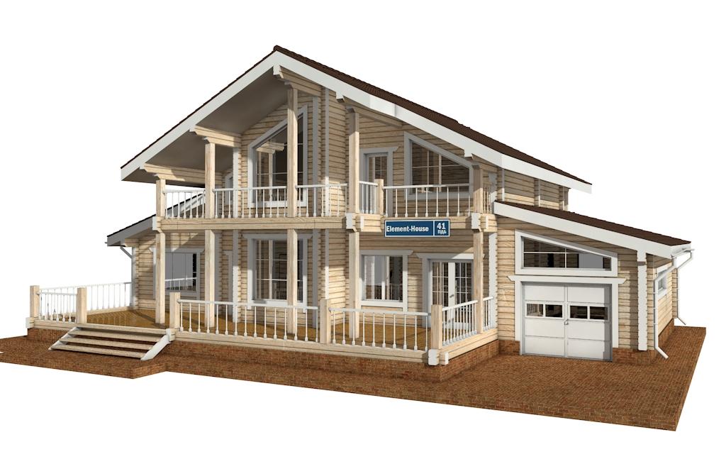 ПДБ-41 - деревянный дом из клееного бруса