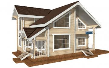 Фото #2: деревянный дом ПДБ-34 из клееного бруса купить за 13915000 (цена «Под ключ»)