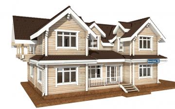 Фото #2: деревянный дом ПДБ-43 из клееного бруса купить за 14446000 (цена «Под ключ»)