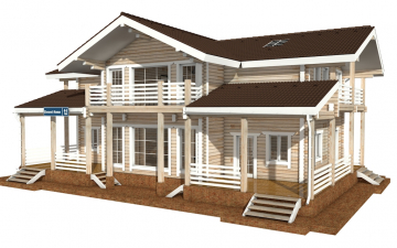 Фото #5: деревянный дом ПДБ-44 из клееного бруса купить за 14702000 (цена «Под ключ»)