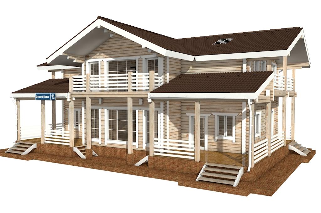 Фото #4: деревянный дом ПДБ-44 из клееного бруса купить за 14702000 (цена «Под ключ»)