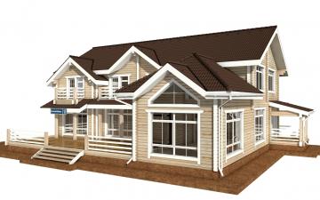 Фото #2: деревянный дом ПДБ-45 из клееного бруса купить за 18689000 (цена «Под ключ»)