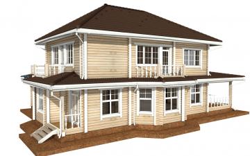Фото #5: деревянный дом ПДБ-46 из клееного бруса купить за 17082000 (цена «Под ключ»)