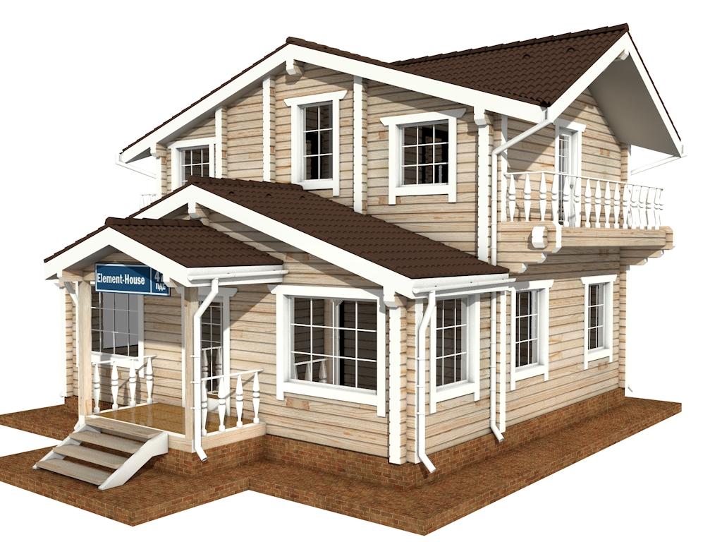 Фото #4: деревянный дом ПДБ-47 из клееного бруса купить за 6464000 (цена «Под ключ»)