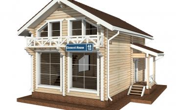 Фото #5: деревянный дом ПДБ-48 из клееного бруса купить за 4465000 (цена «Под ключ»)