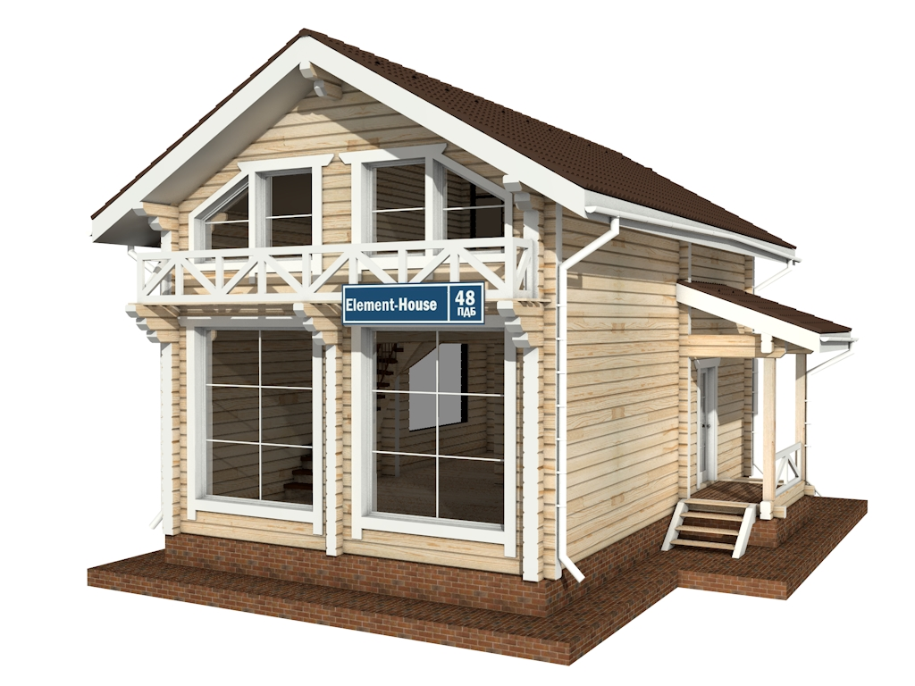 Фото #4: деревянный дом ПДБ-48 из клееного бруса купить за 4465000 (цена «Под ключ»)