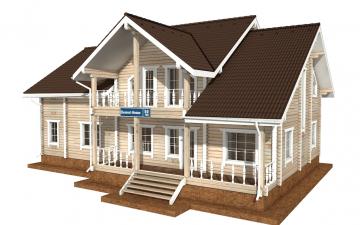 Фото #2: деревянный дом ПДБ-50 из клееного бруса купить за 14985000 (цена «Под ключ»)