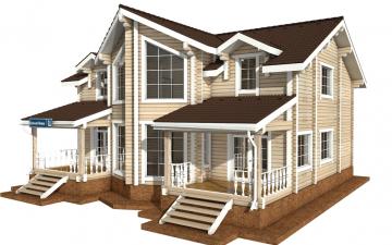Фото #5: деревянный дом ПДБ-51 из клееного бруса купить за 15974000 (цена «Под ключ»)