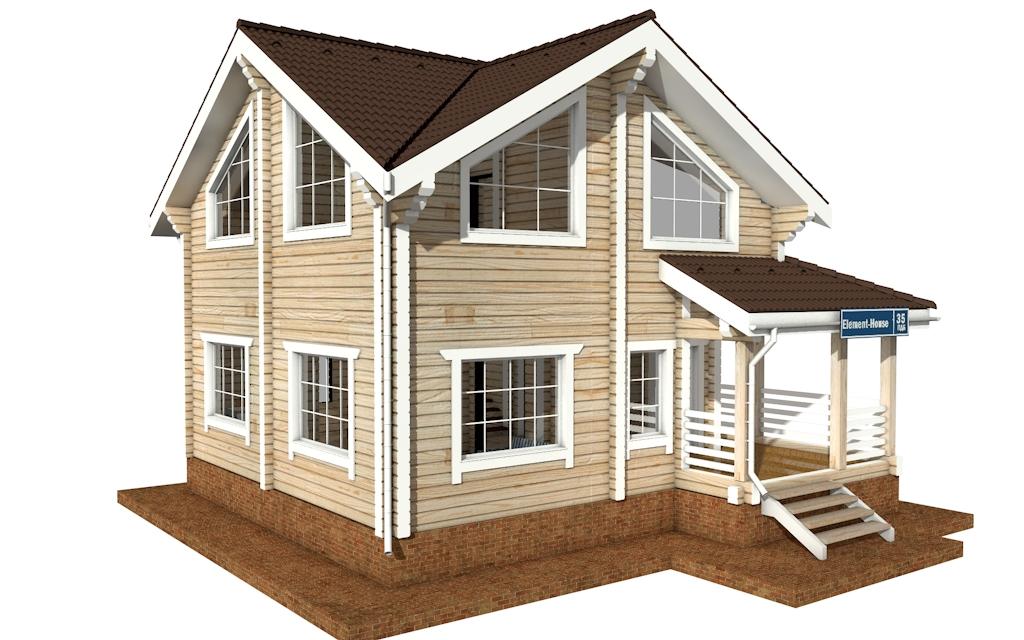 Фото #2: деревянный дом ПДБ-35 из клееного бруса купить за 8016000 (цена «Под ключ»)