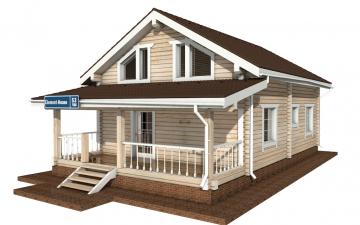 Фото #2: деревянный дом ПДБ-53 из клееного бруса купить за 4835000 (цена «Под ключ»)