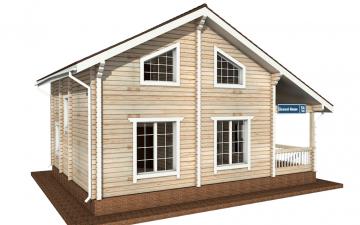 Фото #2: деревянный дом ПДБ-54 из клееного бруса купить за 6262000 (цена «Под ключ»)