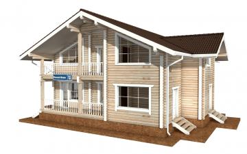 Фото #2: деревянный дом ПДБ-55 из клееного бруса купить за 11957000 (цена «Под ключ»)