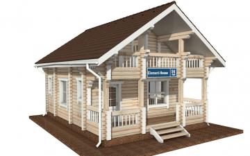Фото #2: деревянный дом ПДБ-56 из клееного бруса купить за 4483000 (цена «Под ключ»)