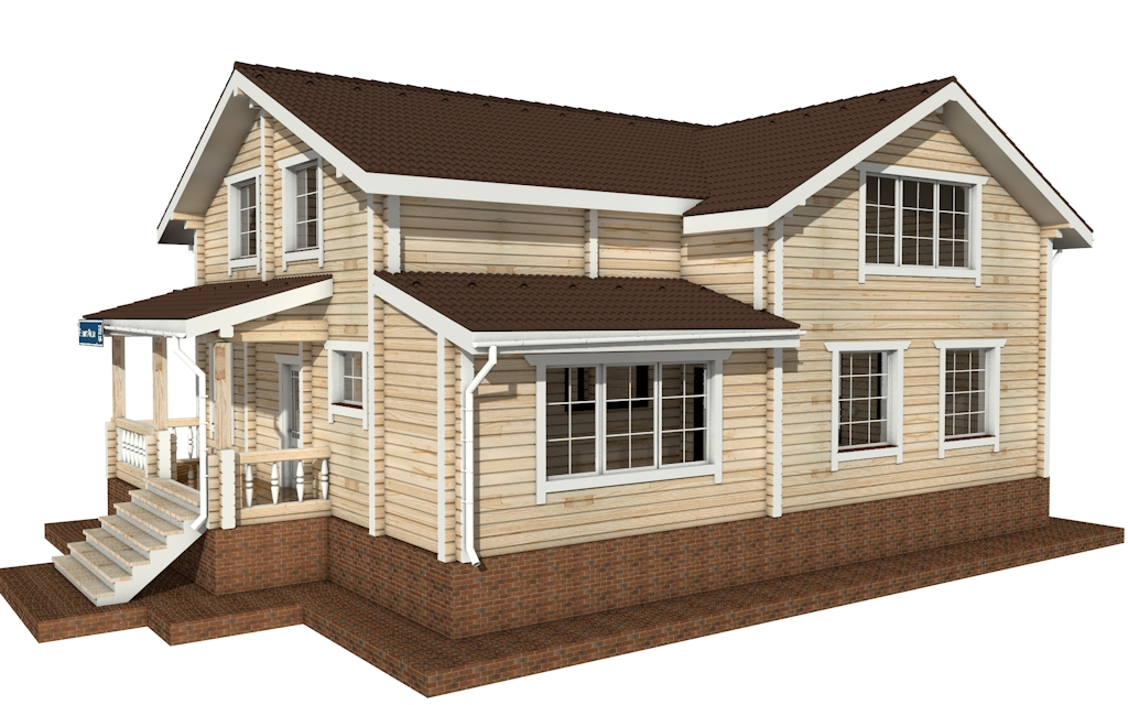 ПДБ-58 - деревянный дом из клееного бруса