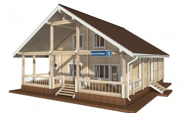 Фото #2: деревянный дом ПДБ-59 из клееного бруса купить за 10102000 (цена «Под ключ»)