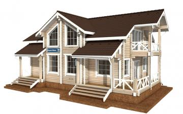 Фото #5: деревянный дом ПДБ-60 из клееного бруса купить за 10456000 (цена «Под ключ»)