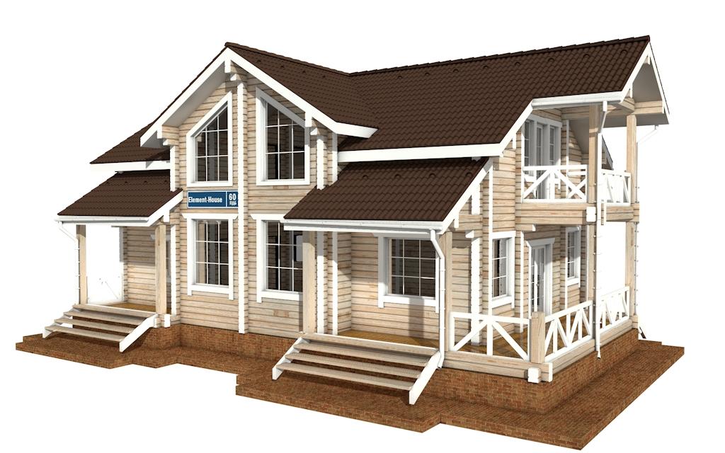 Фото #4: деревянный дом ПДБ-60 из клееного бруса купить за 10456000 (цена «Под ключ»)