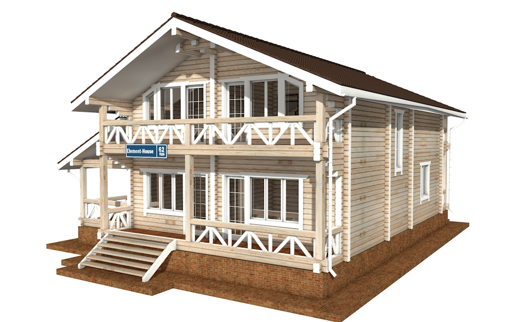 Фото #4: деревянный дом ПДБ-62 из клееного бруса купить за 10084000 (цена «Под ключ»)
