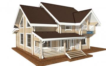 Фото #2: деревянный дом ПДБ-36 из клееного бруса купить за 14352000 (цена «Под ключ»)