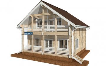 Фото #5: деревянный дом ПДБ-33 из клееного бруса купить за 9467000 (цена «Под ключ»)